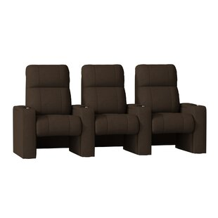 Latitude Run Luxury Manual Rocker Recline Home Theater Sofa (Row of 3)