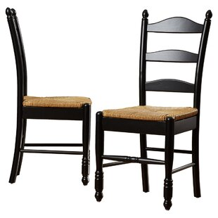 Shirk Ladder Back Solid Wood Dining Chair (Set of 2)