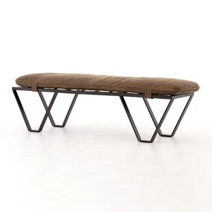Stefania 60 Genuine Leather Bench by 17 Stories