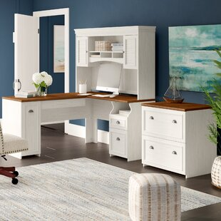 Oakridge 3 Piece L-Shape Desk Office Suite by Beachcrest Home Best Design