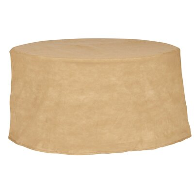 Freeport Park Aaden Round Patio Table Cover Color: Tan, Size: 72 W x 72 D