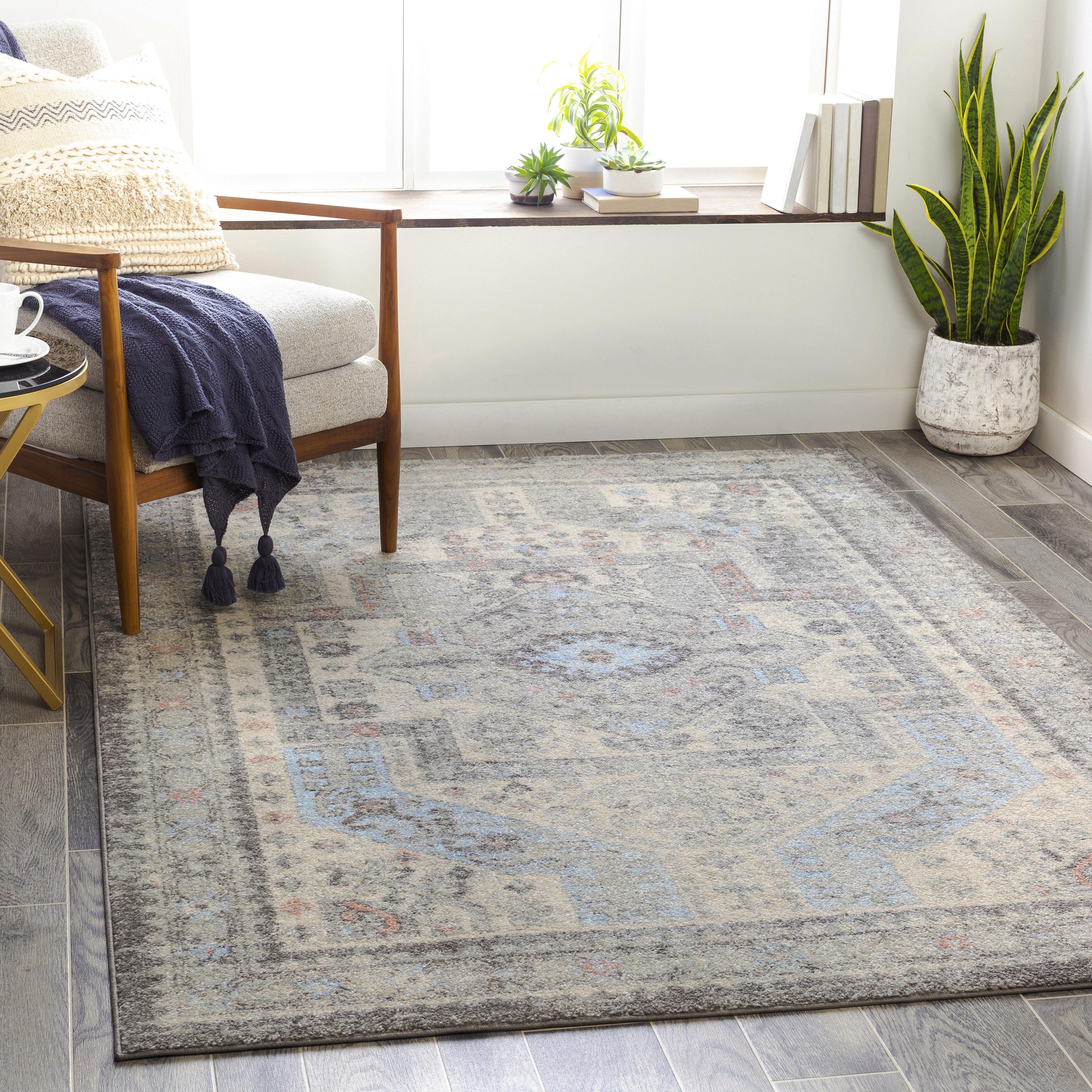 World Menagerie Bilaal Oriental Medium Gray Charcoal Area Rug Wayfair