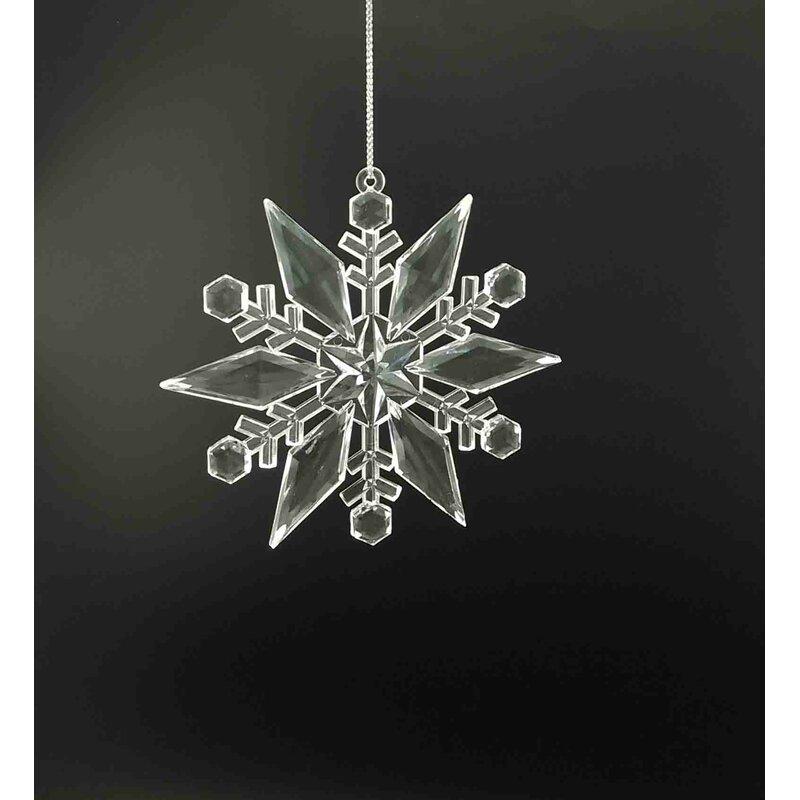 The Holiday Aisle Acrylic Prong Snowflake Holiday Shaped Ornament Wayfair
