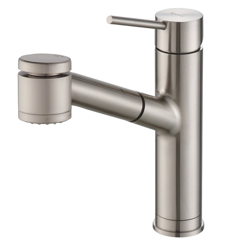 Kraus  Oletto Pull Down Single Handle Kitchen Faucet Finish: Spot Free Stainless Steel