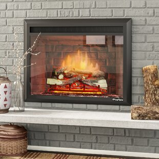Armes Black 750/1500W Western Electric Fireplace Insert By Loon Peak