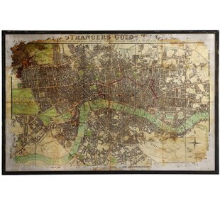 Merveilleux Eli Large Antique Map Framed Wall Art
