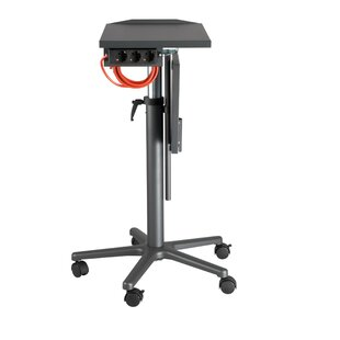 Adjustable Laptop Table With Castors By Symple Stuff