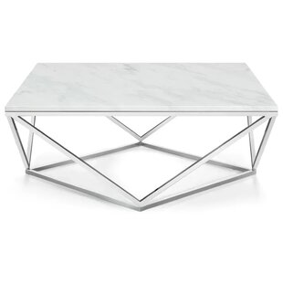 Wrought Studio Plutarch Marble Coffee Table