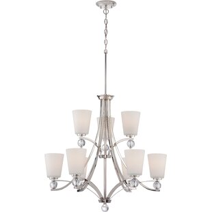 Willa Arlo Interiors Gace 9-Light Shaded Chandelier
