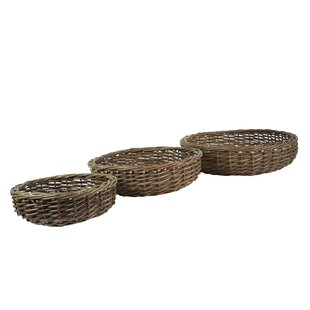 Look for Low Round 3 Piece Willow Basket Set By August Grove