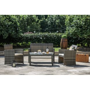 St. George 4 Piece Sofa Set with Cushions