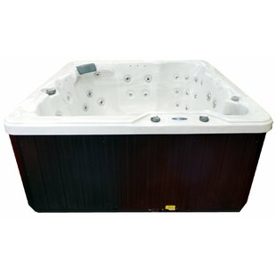 Hudson Bay Spas 6-Person 34-Jet Plug and Play Spa with Stainless Jets and Perimeter LED Lighting