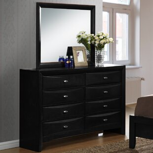 Roundhill Furniture Blemerey 8 Drawer Double Dresser with Mirror