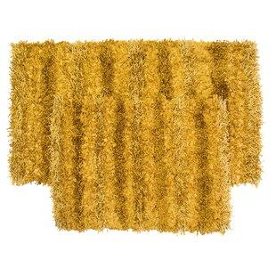 SeaBreeze 2 Piece Hand Woven Gold Novelty Rug Set