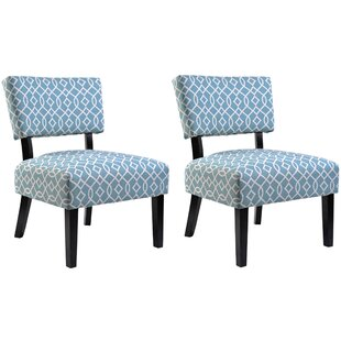 Ebern Designs Phyllis Slipper Chair (Set of 2)