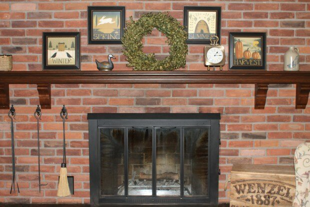 Sadie Carter Sadie's Nest fireplace mantel