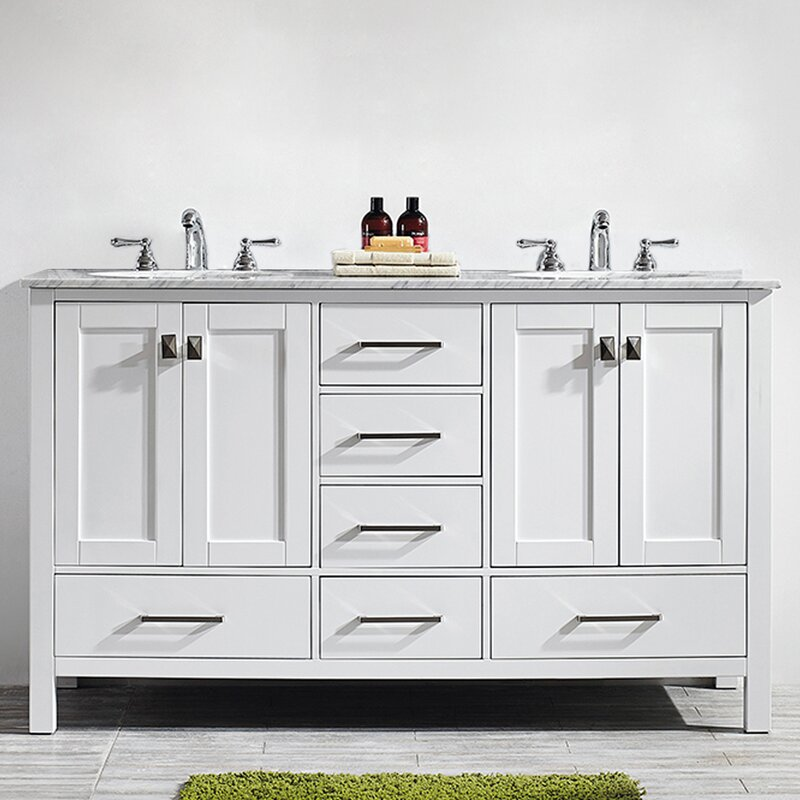 "Newtown 60"" Double Bathroom Vanity Set"