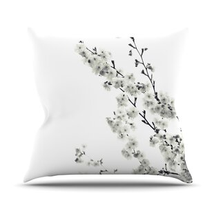Cherry Sakura Throw Pillow by East Urban Home Discount