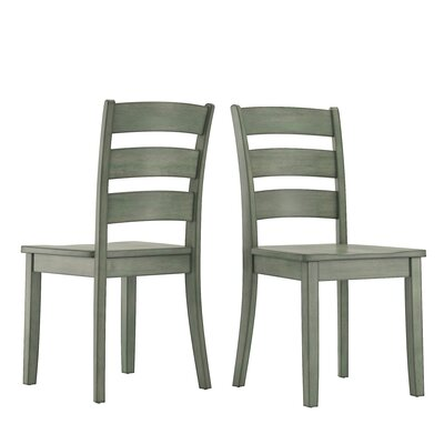 Alverson Solid Wood Dining Chair Color: Dark Sea Green by August Grove