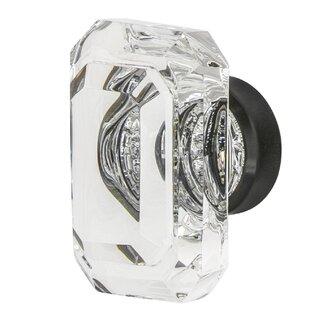 Baguette Cut Clear Cabinet and Drawer Crystal Knob