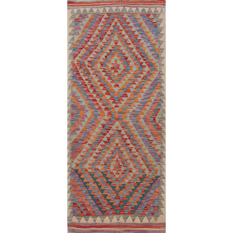 Rugsource Oriental Handmade Kilim Wool Red Orange Ivory Area Rug Wayfair