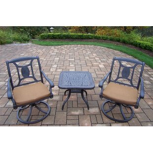 Oakland Living Victoria 3 Piece Dining Set with Cushions