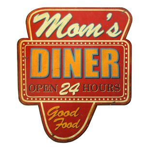 Wooden Sign Mom S Diner Wall Décor