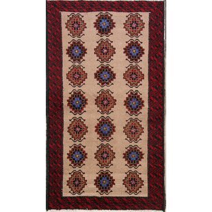 9a05c4b1c59702 One-of-a-Kind Kiya Traditional Geometric Balouch Persian Hand-Knotted 3 3