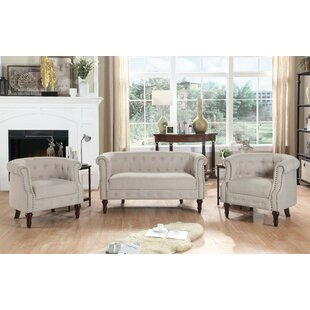 Affordable Kelty 3 Piece Living Room Set by Alcott Hill Reviews (2019) & Buyer's Guide