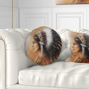 Indian Woman In Clothing Throw Pillow