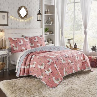 Naquin 100% Cotton 3 Piece Reversible Quilt Set