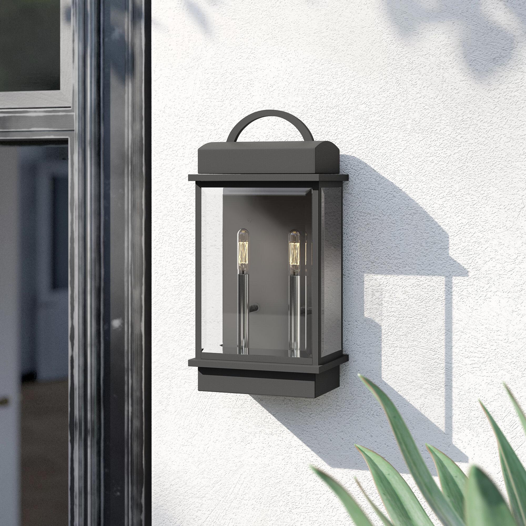 Bloomsbury Market Watterson 2 Light Outdoor Wall Lantern Reviews Wayfair