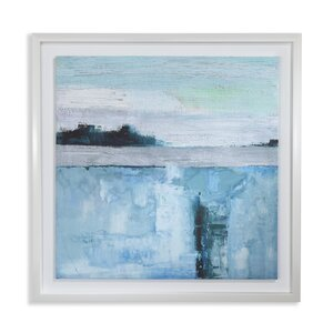 Abstract Seascape Capped Framed Art Print Wrapped on Canvas