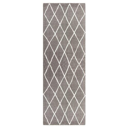 Abbeville Shag Grey/Cream Rug Elle Decor Size: Runner 80 x 2