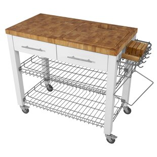 Sydney Kitchen Cart with Butcher Block Top by Ebern Designs