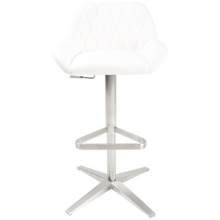 Wrought Studio Dicarlo Adjustable Height Swivel Bar Stool