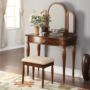 A&J Homes Studio Burke Vanity Set with Mirror