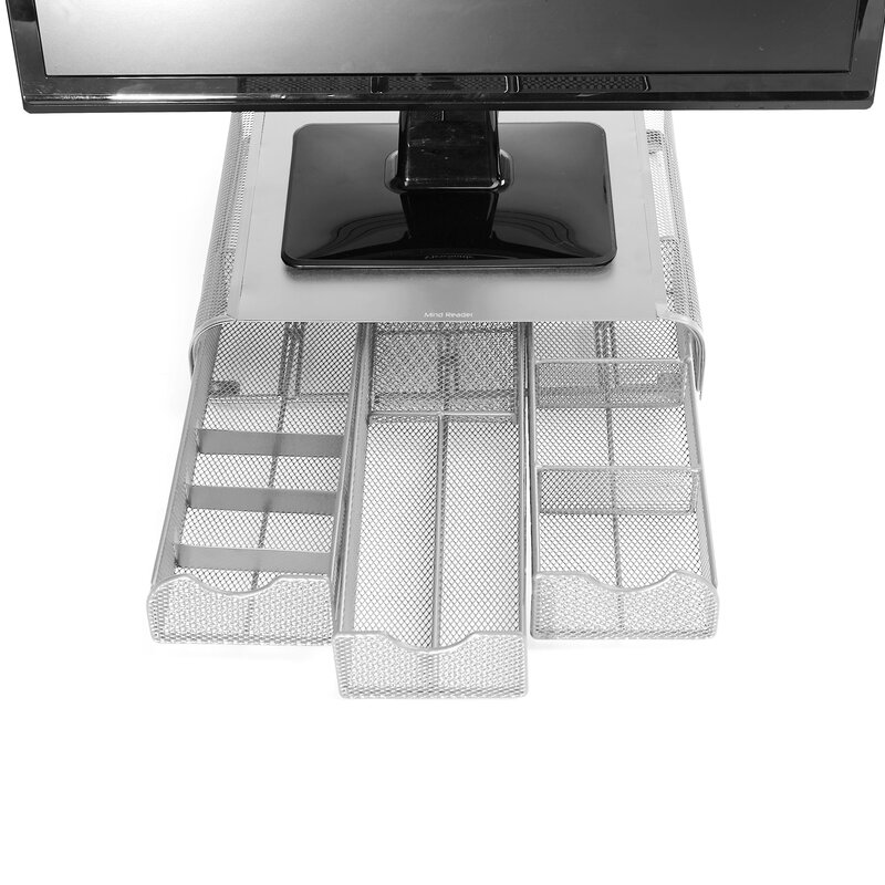 Mind Reader Metal Mesh Perch Pc Laptop Imac Monitor Stand And
