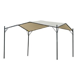 Outsunny 10' x 10' Steel Patio Gazebo