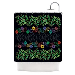 Dark Jungle by Famenxt Single Shower Curtain By East Urban Home