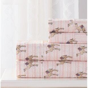 Bungalow Rose Blackmon 4 Piece Camel Sheet Set
