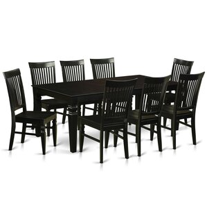 Beesley 9 Piece Black Dining Set by Darby Home Co