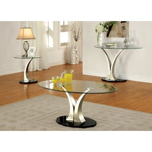 Feemster 3 Piece Coffee Table Set