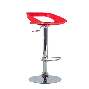 Woolery Height Adjustable Swivel Bar Stool By Mercury Row