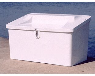 29 H x 50 W x 29 D Plastic Storage Bench by Better Way Products
