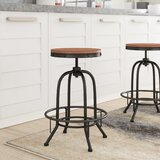 Goethe Swivel Adjustable Height Bar Stool (Set of 2) by Trent Austin Design®