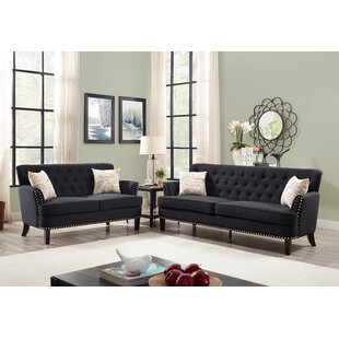 Online Reviews Quayle Wing Chesterfield Nailhead 2 Piece Living Room Set by Canora Grey Reviews (2019) & Buyer's Guide