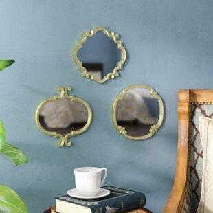 Astoria Grand 3 Piece Contemporary Meadow Wall Mirror Set