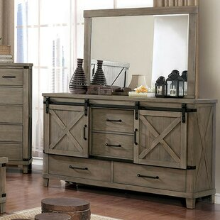 Grecia 4 Drawer Dresser with Mirror