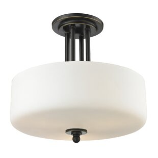 Charlton Home Weatherly 3-Light Semi Flush Mount